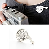 Sterling silver camera winder brooch ($154)