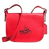 Mickey Mouse Patricia Saddle Leather Bag by Coach — Red ($350)