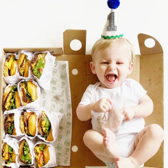 Baby in Atlanta Does Burger Monthly Milestone Photos