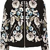 Needle & Thread Oriental Garden Embellished Crepe Bomber Jacket ($500)