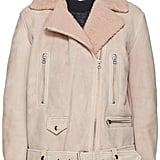 Acne Studios Pink Suede & Shearling Biker Jacket ($2,800)