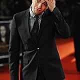 He ran his hand through his locks during the UK premiere of Breaking Dawn Part 2 in November 2012.