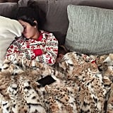 Penelope Disick snuggled up with her aunt Kendall Jenner for a Christmas morning nap.