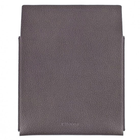 iPad Case in Grey Grained Leather ($390)