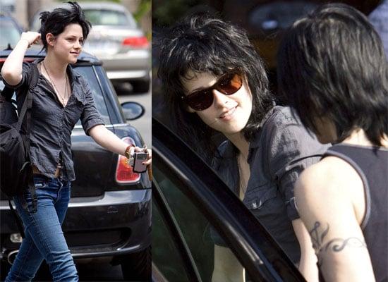 17/06/2009 Kristen Stewart and Joan Jett preparing for The Runaways