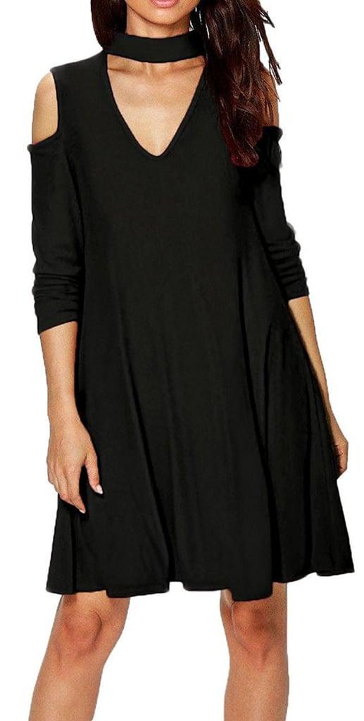 Zesica Cold-Shoulder Dress