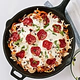 Spiralized Sweet Potato Pizza Bake With Turkey Pepperoni
