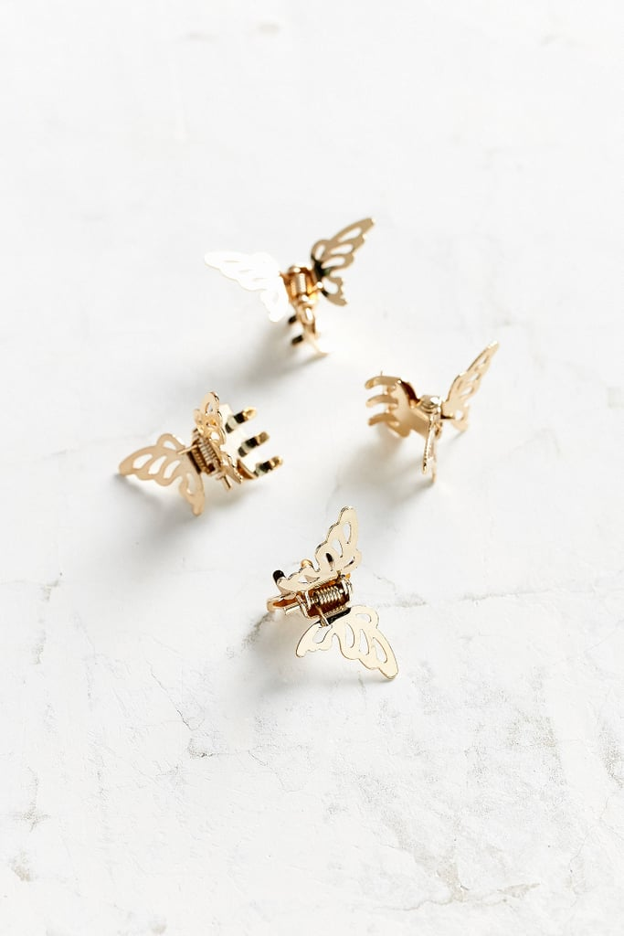 Gold Metal Butterfly Clip Set ($10)