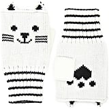 Cat Print Fingerless Gloves