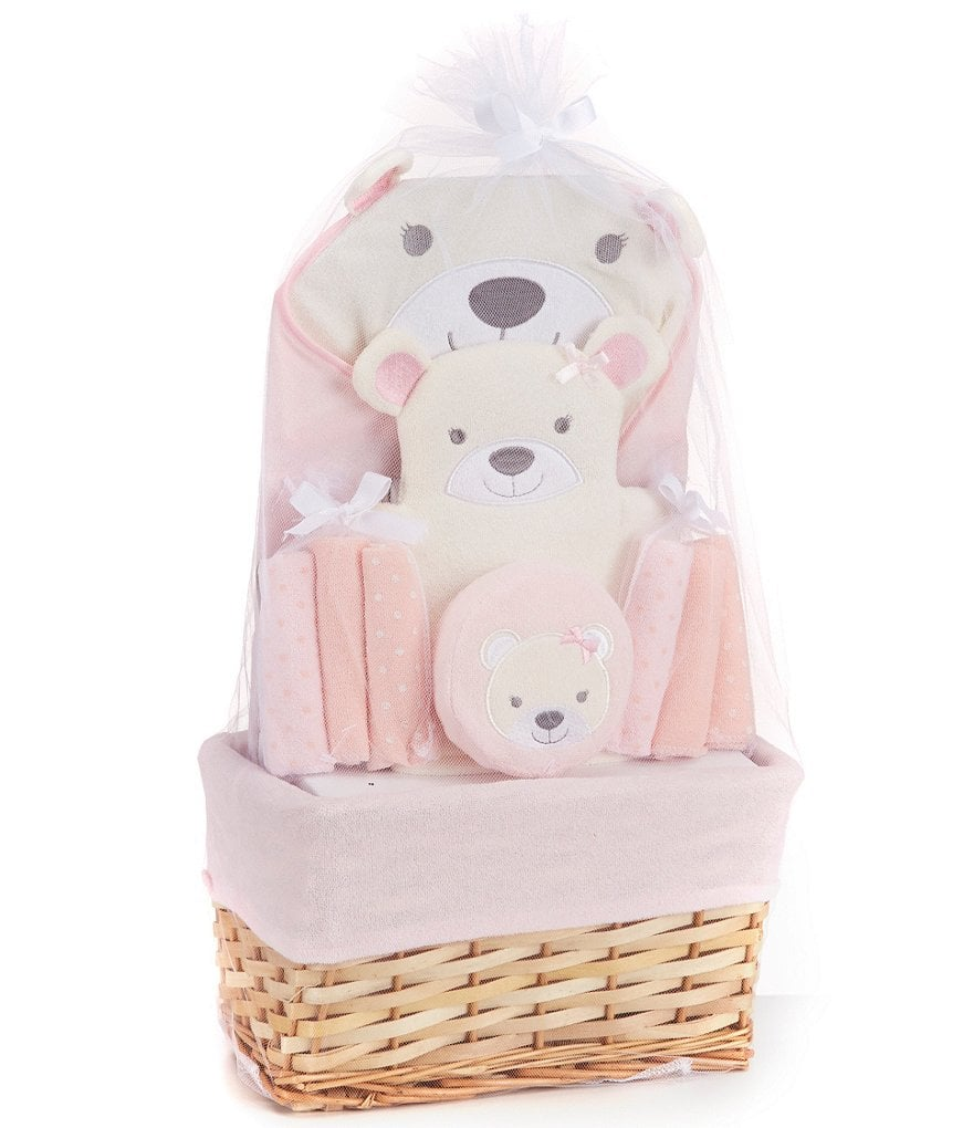 Starting Out Baby Girls Bear Bath Gift Set | Pink Baby Shower Gifts ...
