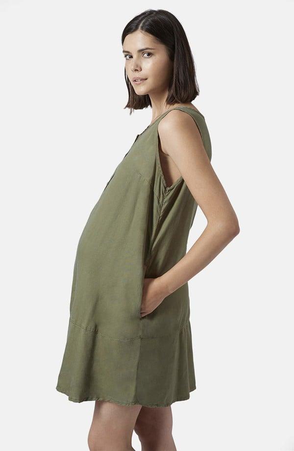 62b6788f3d5dc Topshop Moto Khaki Maternity Dress ($45, originally $92) | Cheap ...