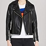 Sandro Jacket Veinarde Leather Biker