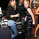 Rashida Jones and Amy Poehler enjoyed the party.