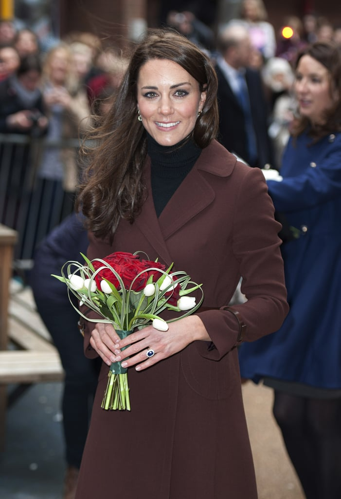 Kate Middleton left a tour of Liverpool.