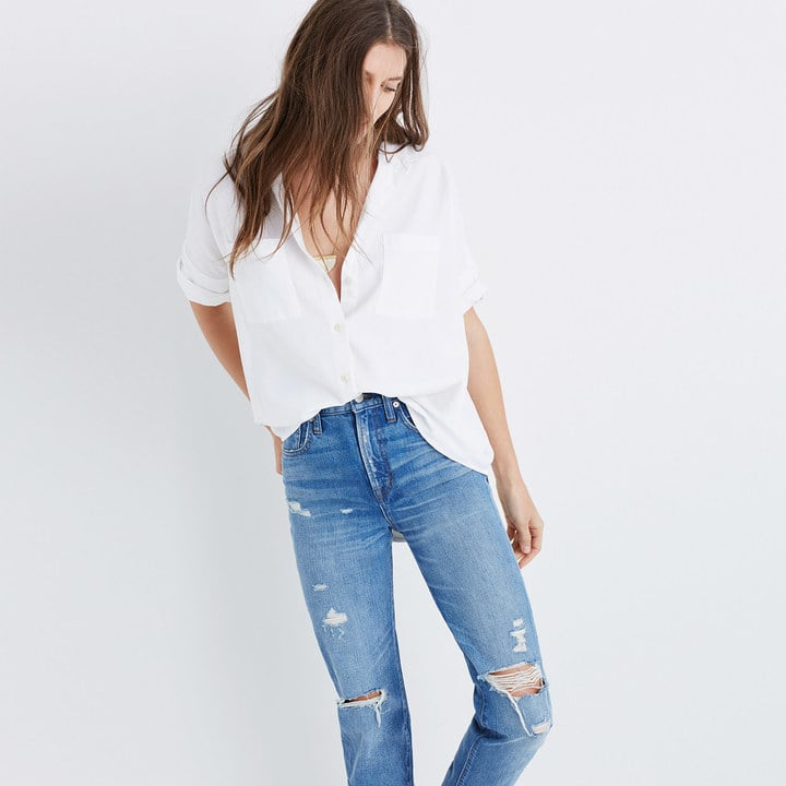 Madewell White Cotton Courier Shirt ($65)