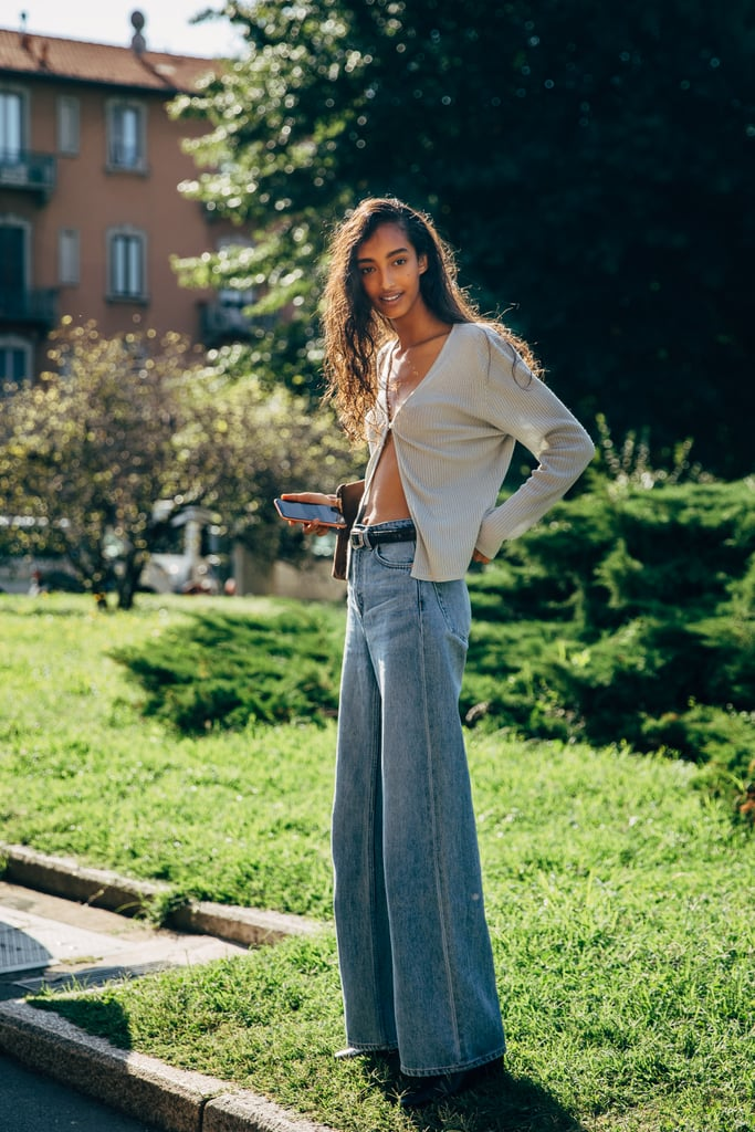 Keep a cardi slightly open with your favorite jeans, and the vibe is way more summer-friendly.