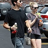 Justin Long and Amanda Seyfried took her dog to get groomed after a park date.