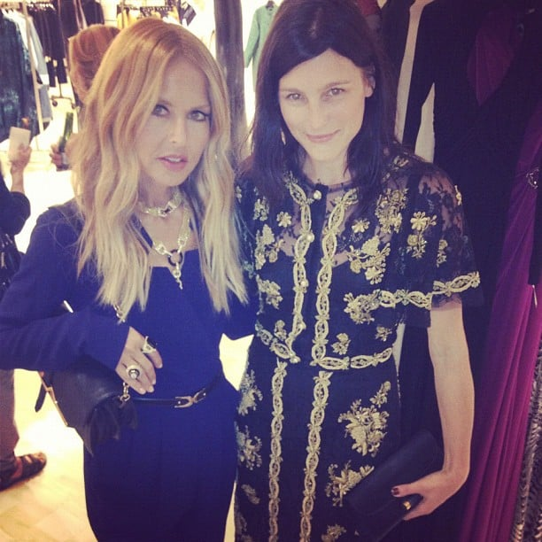 Rachel Zoe stopped at multiple stores around Manhattan during FNO. Source: Instagram user thezoereport