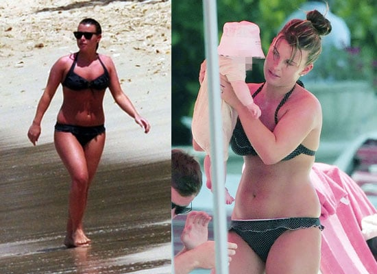 Photos of Coleen Rooney in Bikini and Baby Kai Rooney on Holiday on Beach in Barbados, First Pictures of Kai Rooney