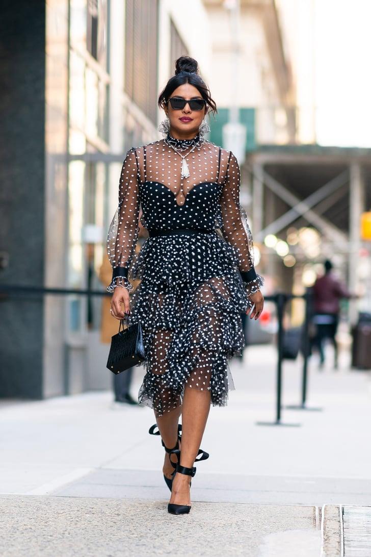 Priyanka Chopras Sheer Polka-Dot Dress  Popsugar Fashion Australia Photo 8-7826
