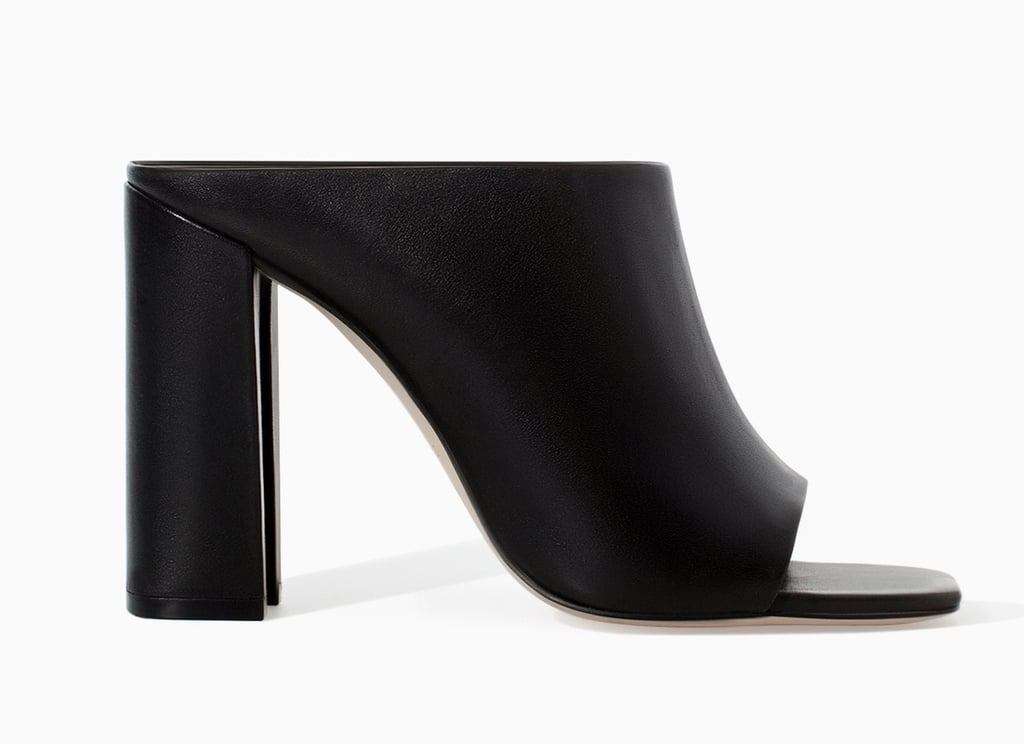 Zara black high-heel mules ($100)