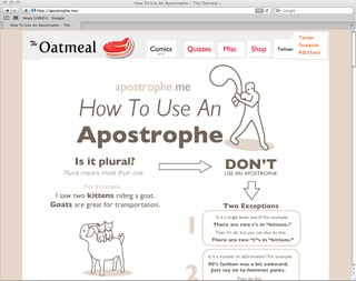 Website of the Day: Apostrophe Me