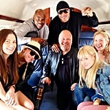2 Broke Girls' Beth Behrs jetted off in a private plane with a group including her fellow CBS actors LL Cool J (NCIS: Los Angeles) and Michael Chiklis (Vegas). Source: Instagram user bethbehrsreal