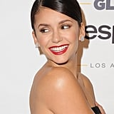 Bold: Nina Dobrev Here, she goes classic Hollywood glamour with a bright-red lip.