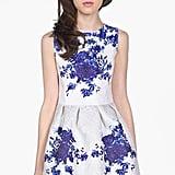 Sheinside Porcelain Print Dress + Erdem Modal-Blend Sweater