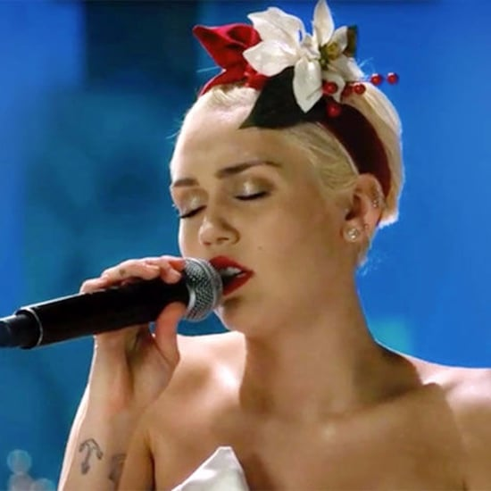 "Miley Cyrus Singing ""Silent Night"" Video 2015"