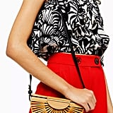 Topshop Cancun Wooden Cross Body Bag