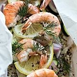 Lemony Shrimp and Quinoa en Papillote