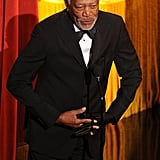 Morgan Freeman opened the 2012 Oscars.