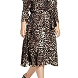 Eliza J Leopard Print Midi Dress