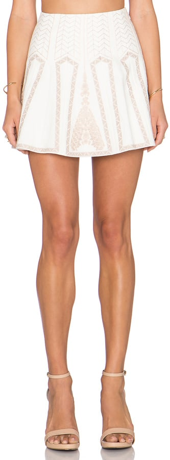 BCBG Max Azria Bronwyn Embroidered Mini Skirt ($298)
