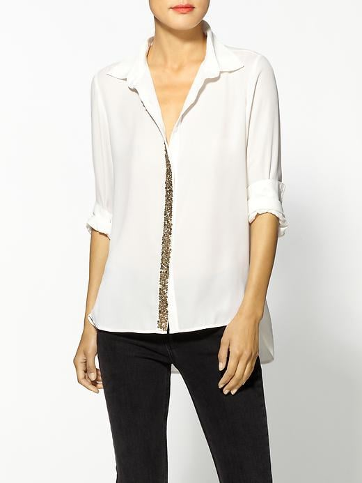 We love that the sparkles on this Rachel Zoe Greylin London Sequined Button Down ($98) are done so subtly — so you won't get sick of it, even after party season.