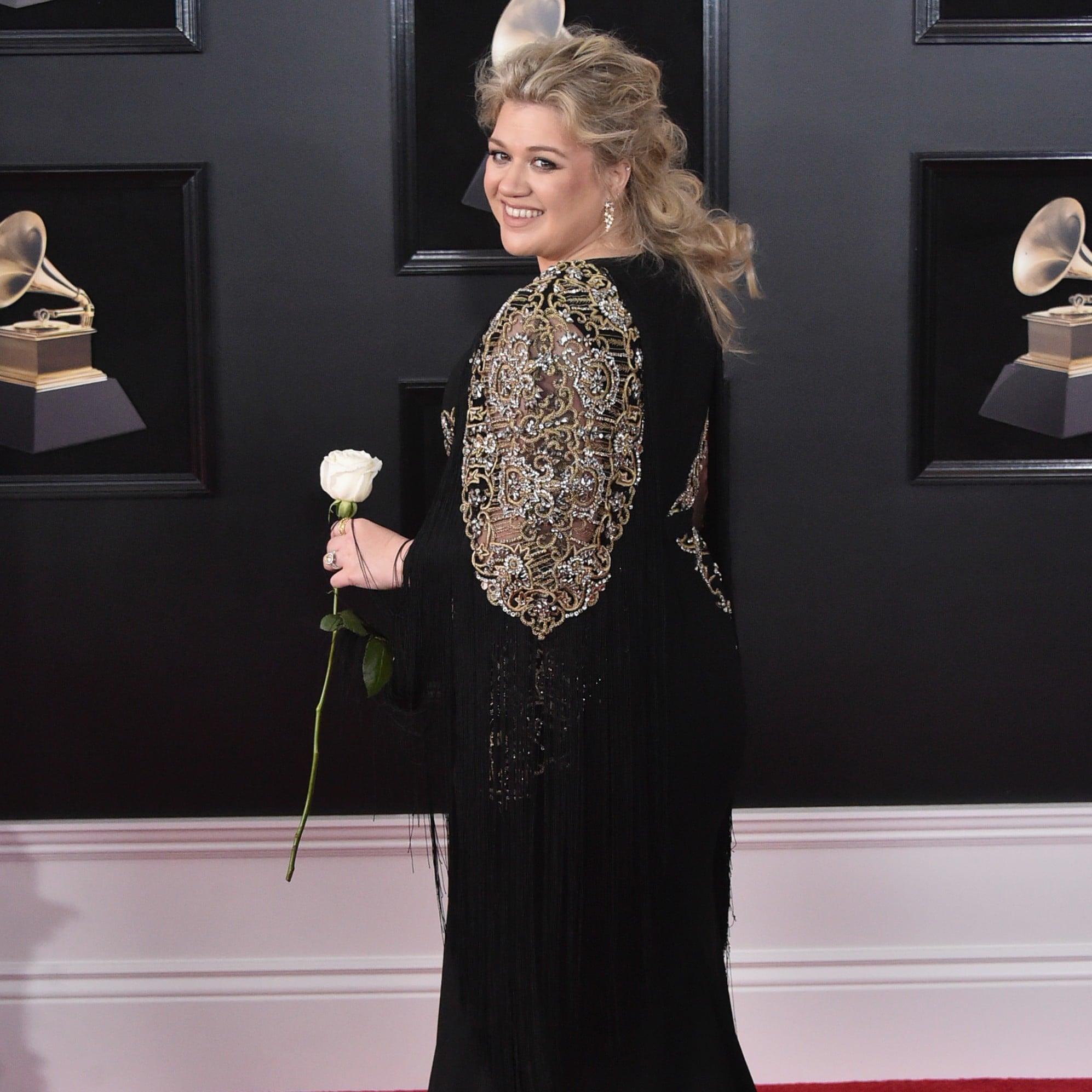 Kelly Clarkson Pussy Pics Minimalist cardi b stomach hair at the grammy awards | popsugar beauty