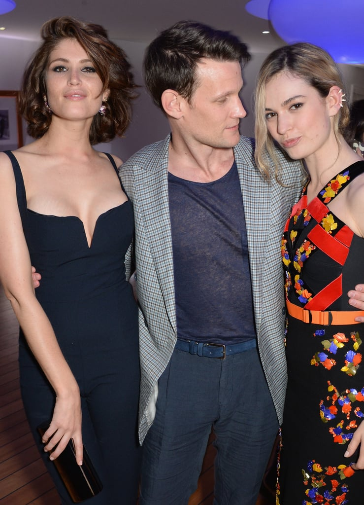 With Gemma Arterton and Lily James