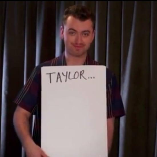 Sam Smith Re-Creates Love Actually Scene at Billboard Awards