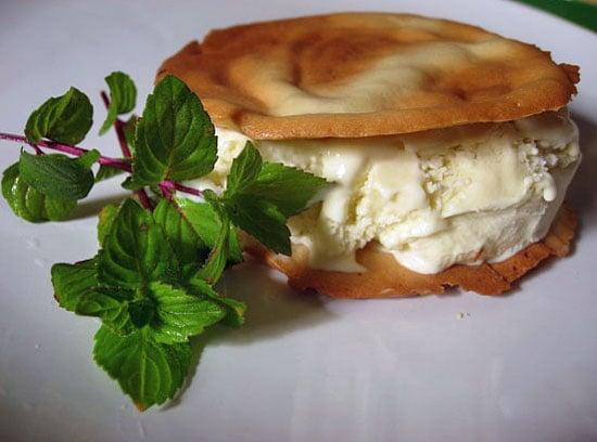 Mint Ice Cream Cone Sandwiches