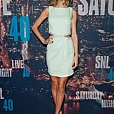 Taylor Swift at SNL's 40th anniversary celebration.