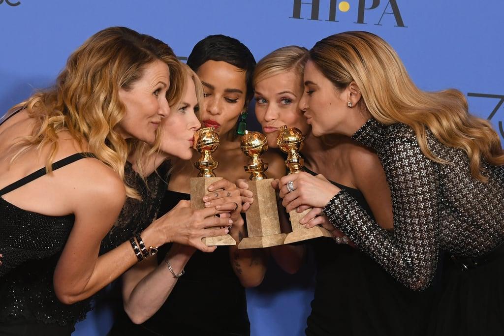 Pictured: Laura Dern, Nicole Kidman, Zoë Kravitz, Reese Witherspoon, and Shailene Woodley