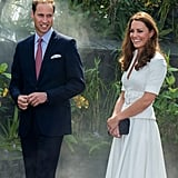 Kate Middleton and Prince William were all smiles in Singapore in September 2012.