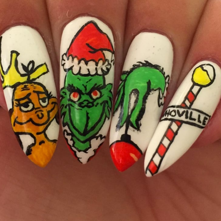 Grinch Holiday Nail Art Ideas Popsugar Beauty