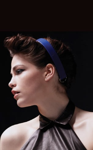 D Ring Leather Headwrap