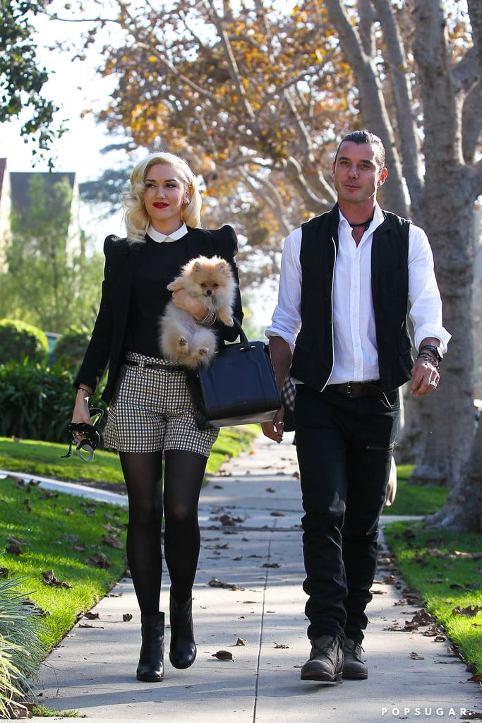 Gwen Stefani and Gavin Rossdale visited her parents with their sons.
