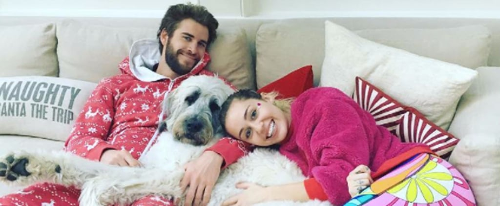 Miley Cyrus Plants a Kiss on Liam Hemsworth During Their Fun-Filled Holiday