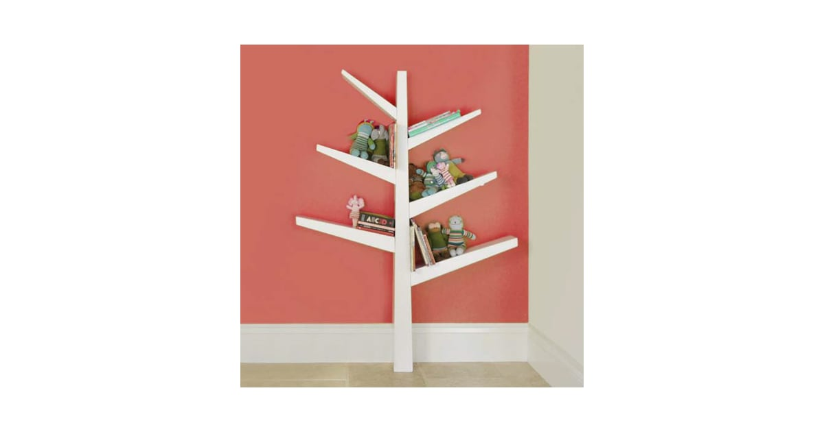 This cheerful Babyletto spruce tree bookcase ($199) adds a bit of | Bookshelves For Kid Rooms ...