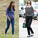 When They Felt a Bit Nautical and Paired Striped Shirts With Jeans and Flats