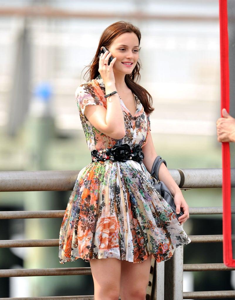 Blair's Floral Dress With a Belt